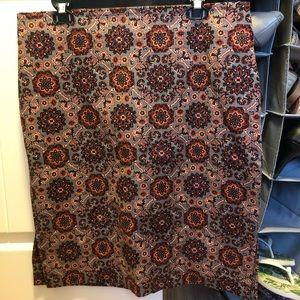 LOFT tapestry skirt